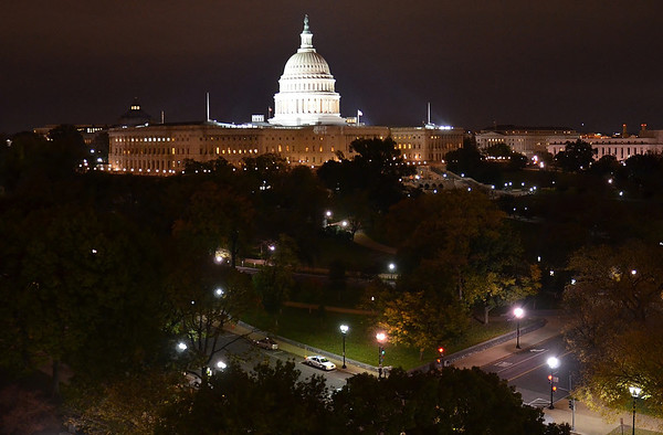 Photo taken last weekend from the roof of Charlie Palmers restaurant in Washington.