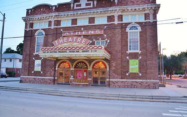 7/25/2011  ..    The Athens Theater in downtown Deland , used to be a Vaudeville theater in the 1920's , it was restored in 2009 to its original appearance as you see it today.