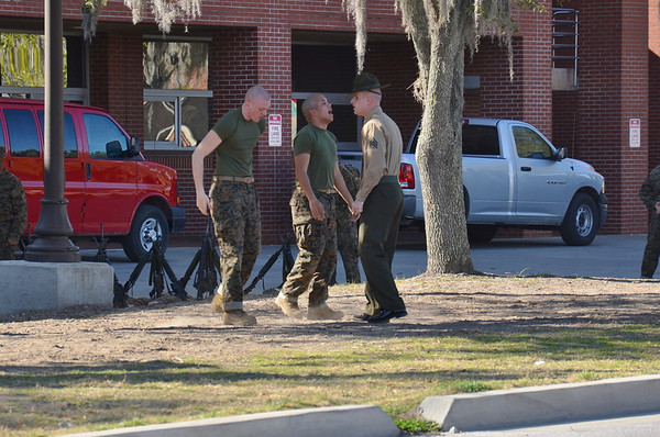 Welcome to Marine Corps boot camp...lots of personal attention...