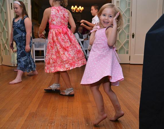 My grand daughter having fun at my nieces wedding...