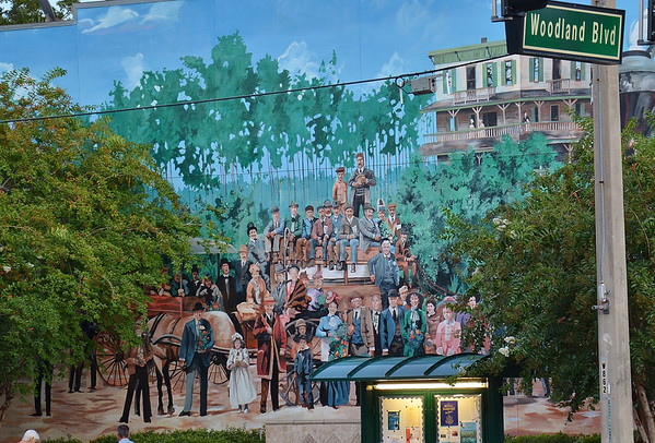 This is one of the wall murals in downtown Deland.