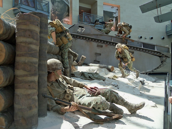 I can't take credit for this photo , it was taken by my son on his visit to the Marine Corps Museum in Quantico , Virginia while visiting one of his friends that joined the Marines last year. The museum has a lot of life size , very realistic diorama's.